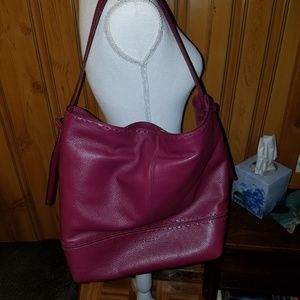 COLE HAAN XL BRYAN CANERNET LEATHER TOTE